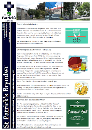 Term 1 Week 2 Newsletter