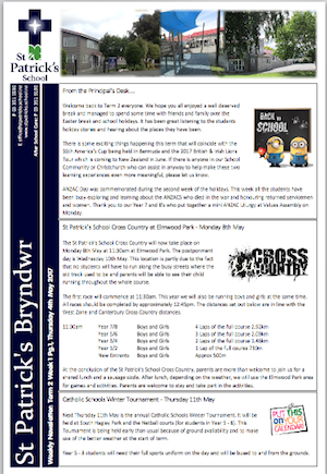 Term 2 Week 1 Newsletter