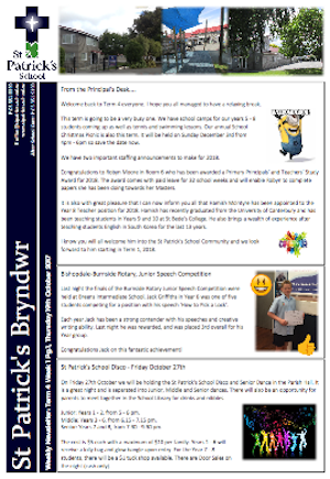 Term 4 Week 1 Newsletter