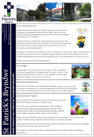 Term 1 Week 8 Newsletter