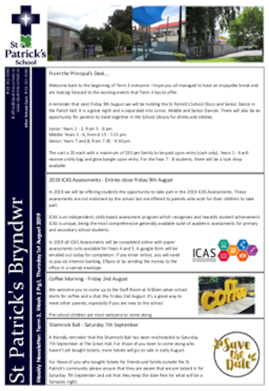 Term 3 Week 2 Newsletter