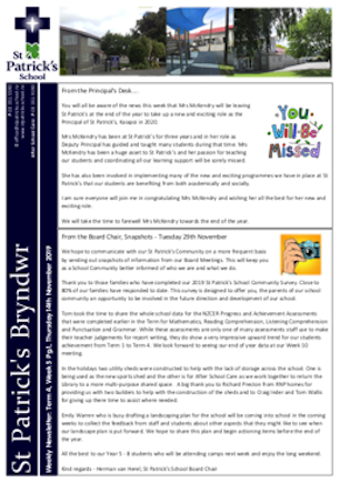 Term 4 Week 5 Newsletter